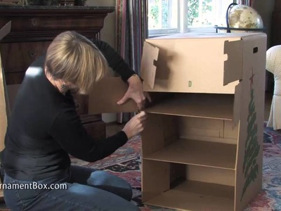 Assembling the best Christmas ornament storage box in the world