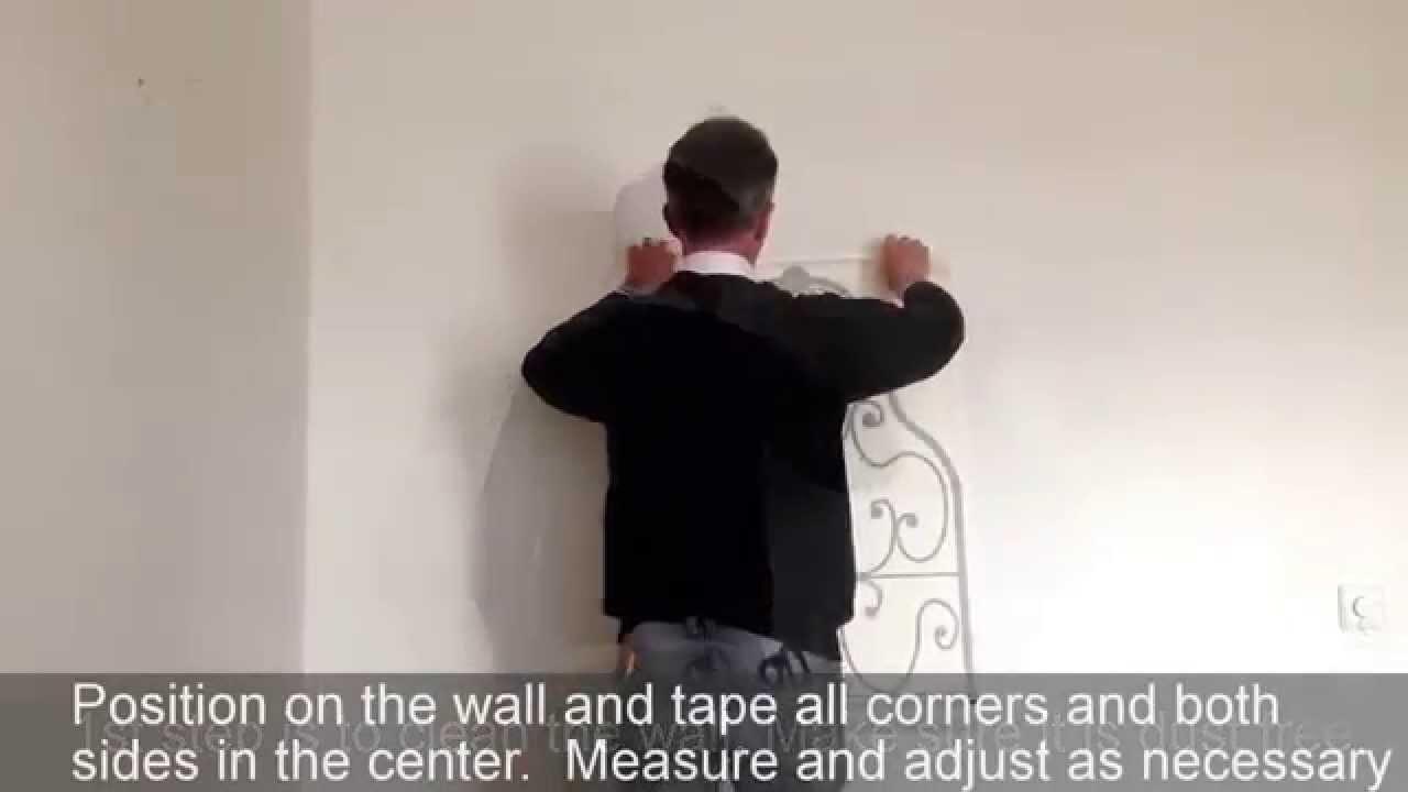 Breakfast at tiffany's audrey hepburn headboard wall art sticker - How to fit