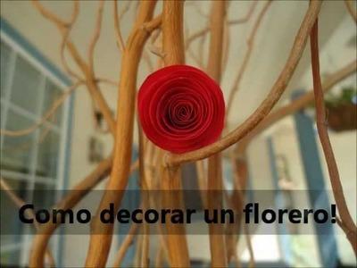 Como decorar un Florero