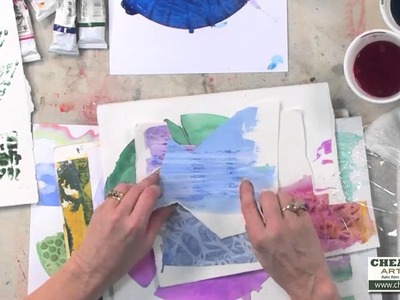 Creating a Watercolor Collage with Cathy Taylor