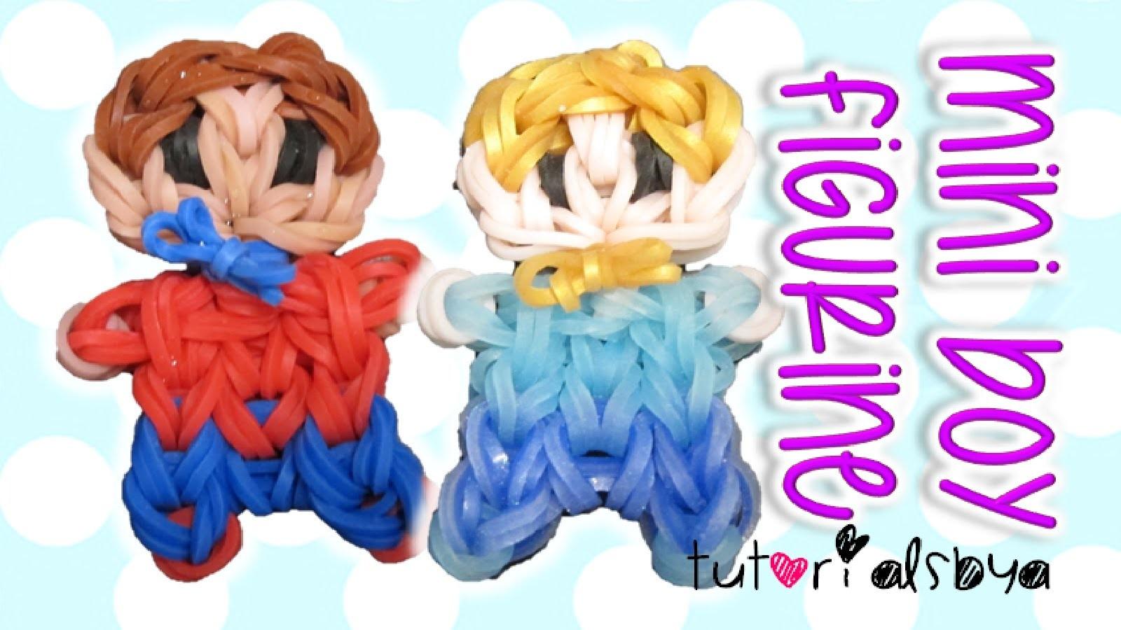 Cute Mini Baby Boy Person Charm. Figurine Rainbow Loom Tutorial | How To