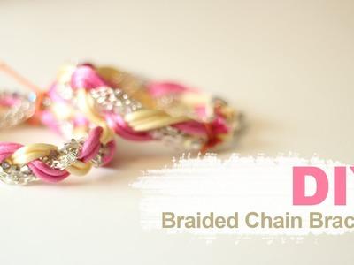 DIY Armcandy: Braided Chain Bracelet