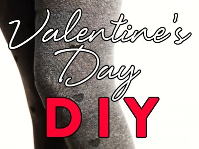 DIY Fashion | Heart-Print Tights For Valentine's Day