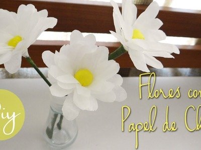 DIY: flores hechas con papel de china