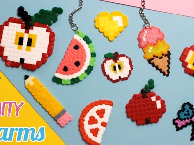 DIY: Fruity Back to School Perler Bead Charms Part 2