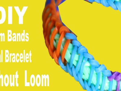 DIY How To Make Spiral Rainbow loom Rubber Band Bracelet Without Loom