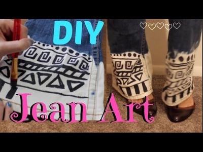 DIY Jean art || Bleach and Sharpie Jeans! || EASY tutorial