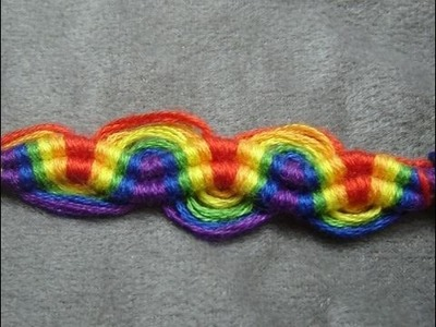 ► Friendship Bracelet Tutorial - Beginner - Double Peruvian Wave