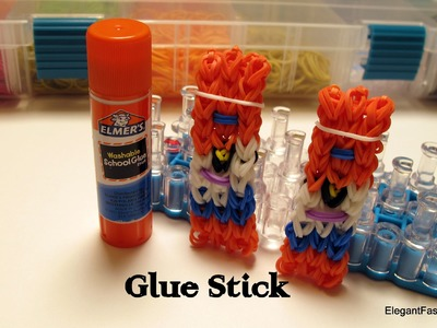 Glue Stick Charm - How to Rainbow Loom Design - School Series