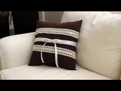 How to Decorate a Pillow With Ribbons & Lace : Ribbons & Wreaths Decorations