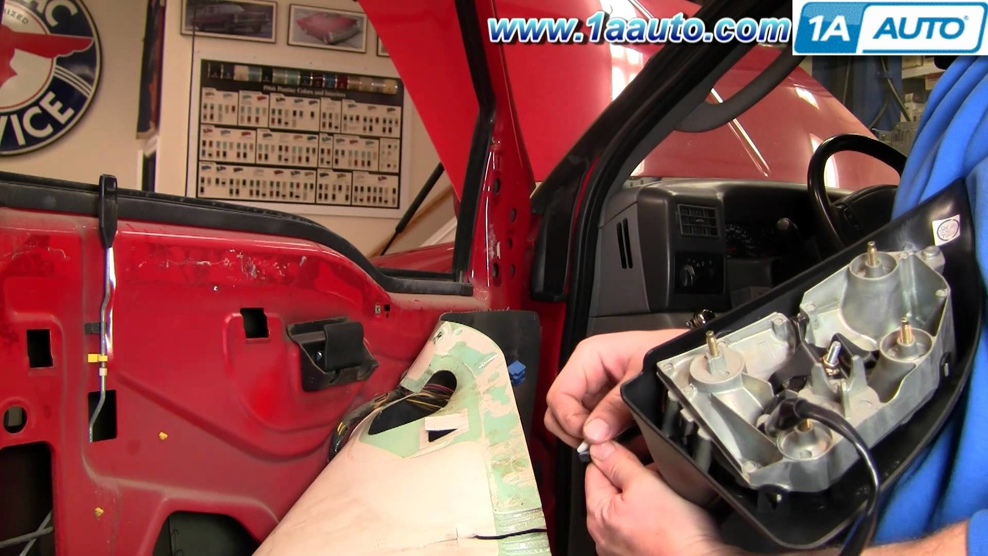 How To Install Replace Broken Side Rear View Mirror 99-07 Ford F250 Super Duty 1AAuto.com