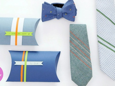 How to Make a French-Knot Tie & Gift Box - DIY Style with Erin Furey - Martha Stewart