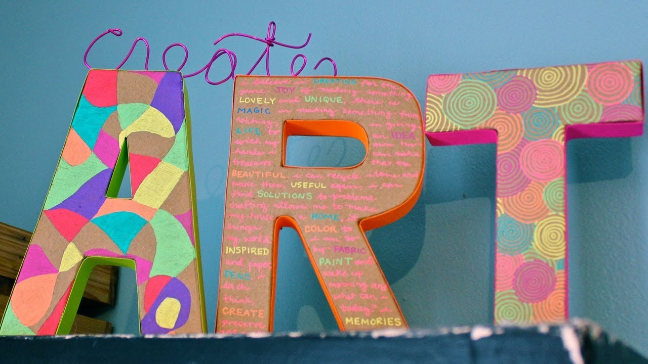 How to Make Colorful, Neon Wall Letters