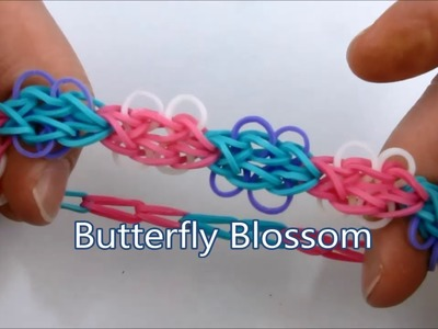 How to make the Butterfly Blossom bracelet on the Rainbow Loom