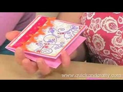 How to use flock for cardmaking - Quick and Crafty! June 2008
