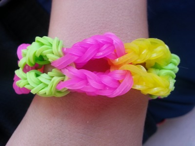 """MONSTER LIPS"" on RAINBOW LOOM *NEW* Original Design -HOW TO"