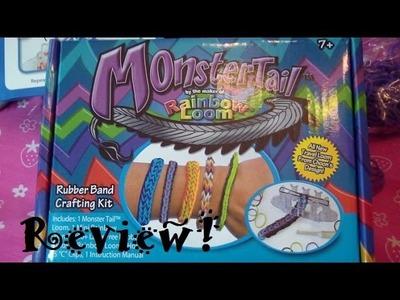 MonsterTail by Rainbow Loom Review & Full Quadfish Tutorial!