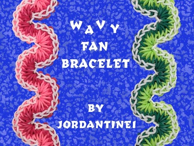 New Wavy Fan Bracelet - Monster Tail , Rainbow Loom or Finger Loom