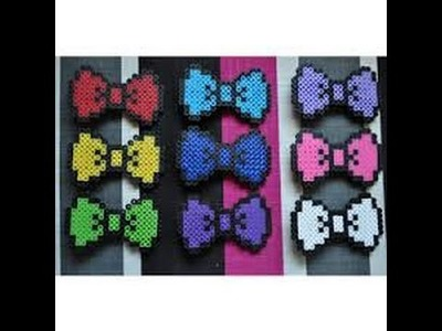 "Perler Bead ""Hello Kitty Themed"" Bow Tutorial :D Episode#1"