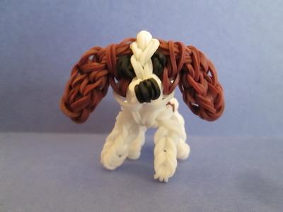 Rainbow Loom Cavalier King Charles Spaniel Dog or Puppy Charm. 3-D