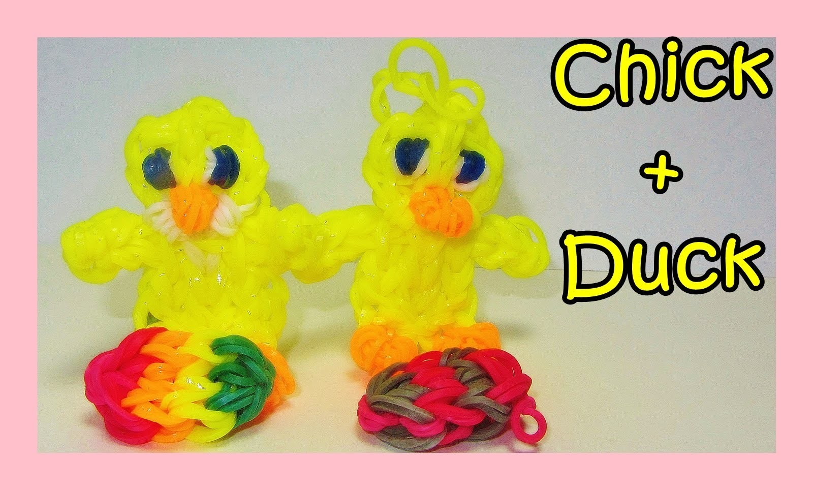 Rainbow Loom Chick + Duck Charms