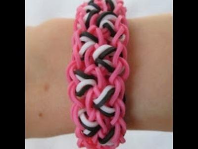 Rainbow Loom- How to make a Leopard Spot Bracelet (Original Pattern)