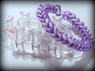 Rainbow Loom Monster Tail Armband. Fishtail Bracelet Var. 2. Loom Bands Anleitung deutsch