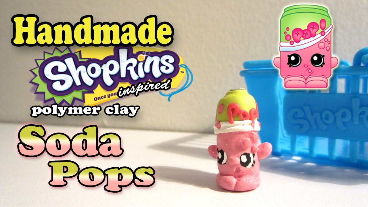 Season 2 Shopkins: How To Make Soda Pops Polymer Clay Tutorial!