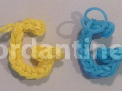 Skinny Letter G Alphabet Charm - Rainbow Loom, Wonder Loom, Bandaloom
