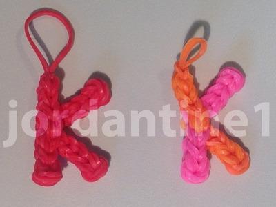 Skinny Letter K Alphabet Charm - Rainbow Loom, Wonder Loom