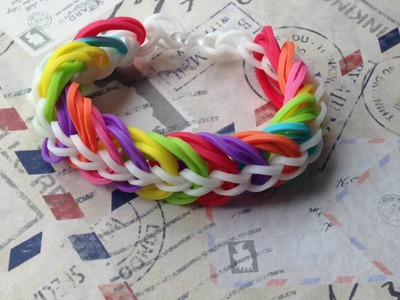 Triple link chain - tutorial Rainbow Loom