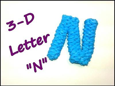 "3-D Letter ""N"" Tutorial by feelinspiffy (Rainbow Loom)"