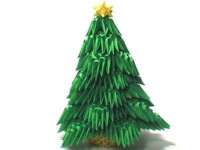 3D origami Christmas tree