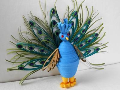 3D Quilling Peacock - Making Tutorial