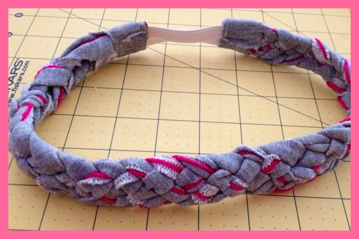 5 Strand Braided Headband from Upcycled. Recycled Material | Step by Step Video Tutorial