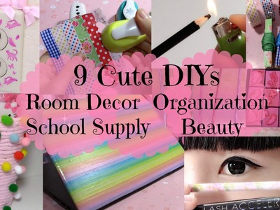 9 Cute DIYs & Ideas Girls Should Try | Room Decors&Organizations& laptop cover&Beauty