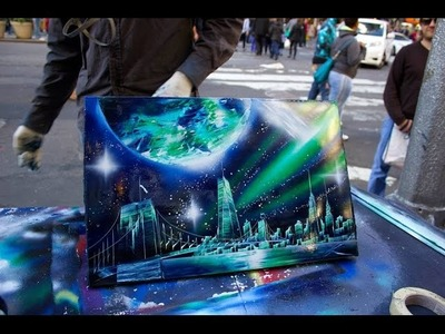 AMAZING New York City Spray Paint Art in Time Square 2014 :)