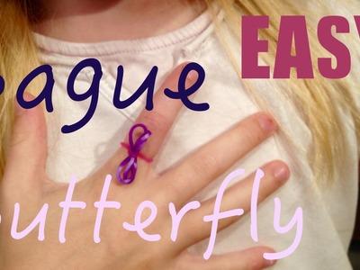 Bague papillon super simple - Comment faire - Tutorial - Rainbow Loom - Easy facile français