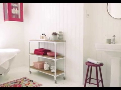 Bathroom Ideas: Using berry and white - Dulux