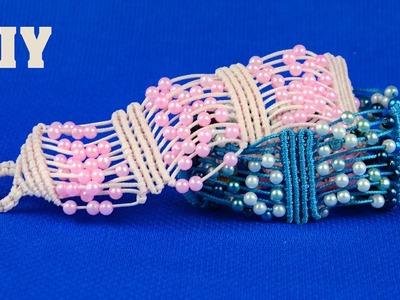 Beaded Macrame Bracelet - Easy Tutorial