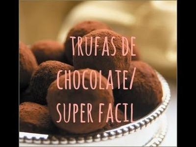 Como hacer truffas de chocolate super ricas y fáciles♥ Santa