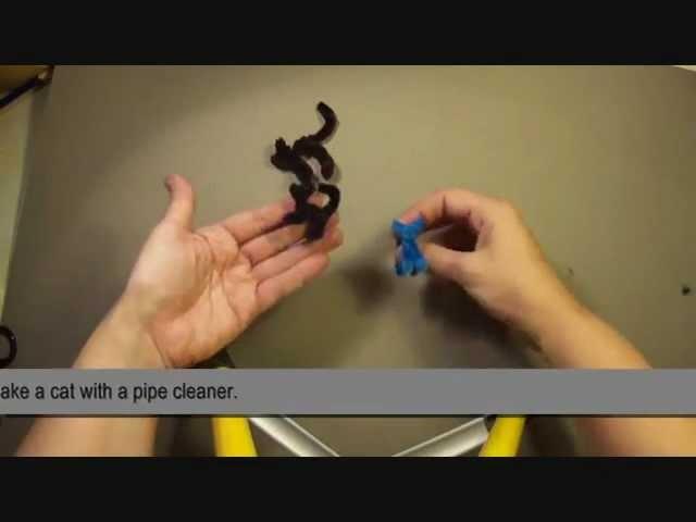 Como hacer un gato con un limpiapipas. How to make pipe cleaner´s cat.