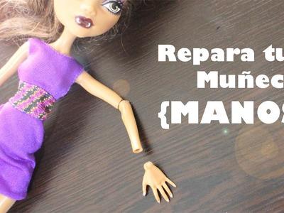 Cómo restaurar o reparar las [MANOS] articulaciones de tus muñecas Monster High y Ever After High