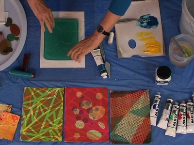 Derivan Printing with a Gelatin Plate - With Wendy Shortland