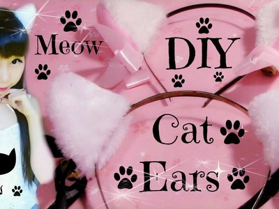 DIY Cat Ears | Fluffy Ears (Easy) | Halloween DIY