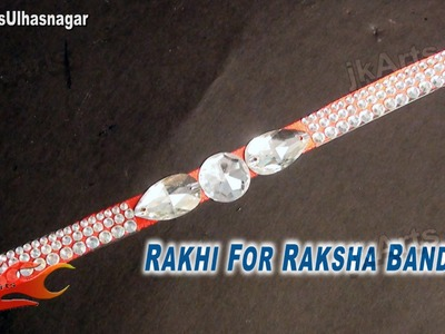 DIY Easy Kundan Rakhi For Raksha Bandan - JK Arts 582