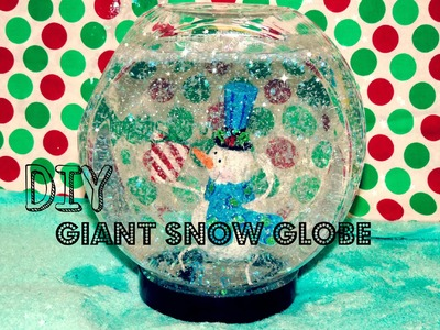 DIY Giant Jar Snowglobe