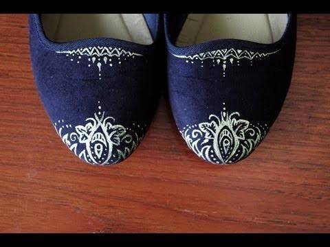 DIY: Gold Shoe Tips