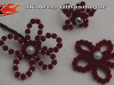 DIY How to make Beaded Flower - JK Arts 028