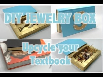 DIY Jewelry Box -Upcycle your Textbooks
